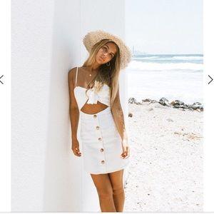 Sabo skirt white Bella cut out dress